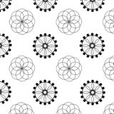 Gekleurd netto patroon mandala royalty-vrije illustratie