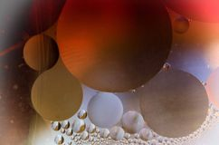 Gekleurd oildrops Royalty-vrije Stock Fotografie
