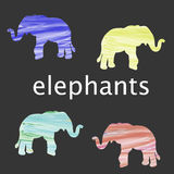 Gekleurd olifantssilhouet Royalty-vrije Stock Fotografie