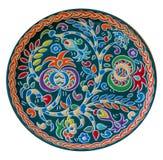 Gekleurd om schotel met het Krim Tatar ornament in de vorm Royalty-vrije Stock Afbeelding