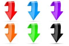 Gekleurd onderaan 3d knopen stock illustratie