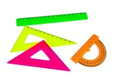 Gekleurd opstellend hulpmiddelen stock foto's