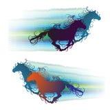 Gekleurd paard Stock Foto's