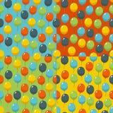 Gekleurd partij baloons patroon Verjaardag, huwelijks, verjaardags, jubileum, het belonen en het winnen uitnodigingsontwerp stock illustratie