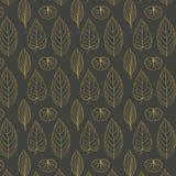 Gekleurd patroon op bladerenthema Autumn Pattern Royalty-vrije Stock Foto