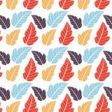Gekleurd patroon op bladerenthema Autumn Pattern Stock Afbeeldingen