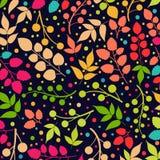 Gekleurd patroon op bladerenthema Autumn Pattern Stock Foto