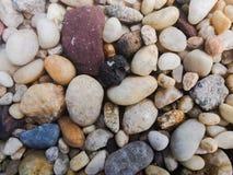 Gekleurd pebbled stenen stock afbeelding