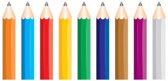 Gekleurd potlood royalty-vrije illustratie