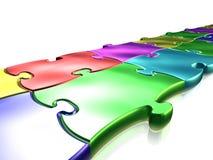 Gekleurd raadsel vector illustratie