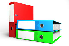 Gekleurd ringsbindmiddel Stock Afbeeldingen