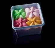 Gekleurd roomijs in de container Royalty-vrije Stock Fotografie