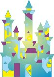 Gekleurd sprookjepaleis stock illustratie