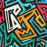 Gekleurd stammen naadloos patroon met grungeeffect Stock Foto