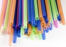 Gekleurd stro Royalty-vrije Stock Afbeeldingen