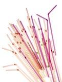 Gekleurd stro Royalty-vrije Stock Foto's