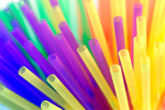 Gekleurd stro Royalty-vrije Stock Foto