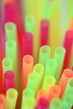 Gekleurd Stro Stock Afbeelding