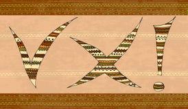 Gekleurd tekens etnisch Royalty-vrije Stock Afbeelding