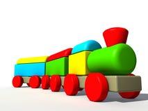 Gekleurd treinstuk speelgoed Stock Afbeelding
