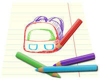Gekleurd trekkend potloden Stock Fotografie