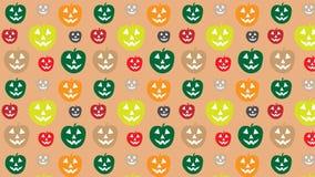 Gekleurd van het pompoenpatroon behang als achtergrond stock illustratie