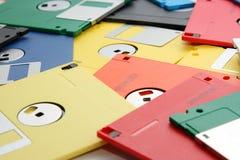 Gekleurd velen verwerken diskette gegevens Stock Fotografie