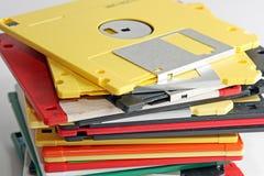 Gekleurd velen verwerken diskette gegevens Royalty-vrije Stock Foto