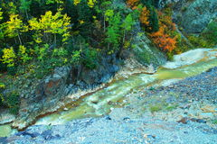 Gekleurd water Stock Fotografie