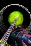 Gekleurd wiel bij de pretmarkt stock foto's