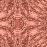 Gekleurd wijnbeige, wijngradiëntachtergrond met abstract fractal patroon Royalty-vrije Stock Fotografie