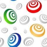 Gekleurde 3D ringen naadloze vector Stock Afbeeldingen
