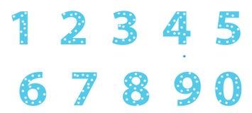 Gekleurde aantallen Stock Fotografie