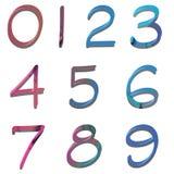 Gekleurde aantallen Stock Afbeelding