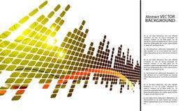 Gekleurde abstracte banner Stock Afbeeldingen