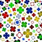 Gekleurde abstracte bloemen op een Witte achtergrond Royalty-vrije Stock Foto's