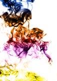 Gekleurde Abstracte damp op de witte achtergrond royalty-vrije illustratie