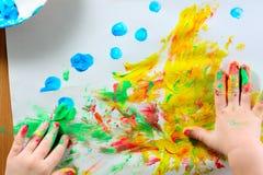 Gekleurde abstracte tekening stock foto