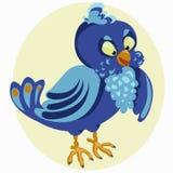 Gekleurde achtergrond met een kleine vogel Royalty-vrije Stock Foto's