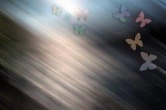 Gekleurde achtergrond met vlinder stock illustratie