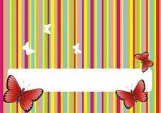 Gekleurde achtergrond met vlinders Stock Foto
