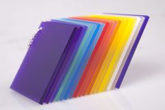 Gekleurde Acrylobjecten Foto Stock Afbeelding