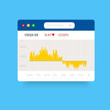 In gekleurde analytische grafiek Royalty-vrije Stock Foto