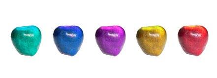Gekleurde appelen stock afbeeldingen