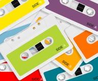 Gekleurde Audiocassette Stock Afbeeldingen