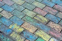 Gekleurde baksteen Royalty-vrije Stock Foto's
