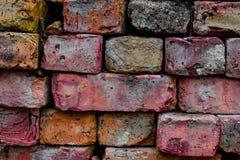 Gekleurde baksteenachtergrond stock foto's