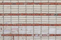 Gekleurde bakstenen muurachtergrond, Sovjet de bouwmuur Royalty-vrije Stock Afbeeldingen