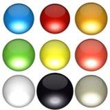 Gekleurde Ballen Stock Afbeeldingen