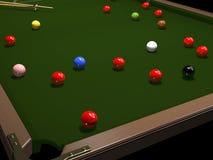 Gekleurde ballen voor biljart stock illustratie